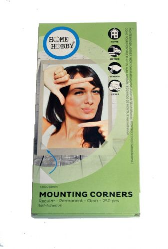 3L Mounting Corners Permanent Clear Self-Adhesive Photo Corners 32mm x 250